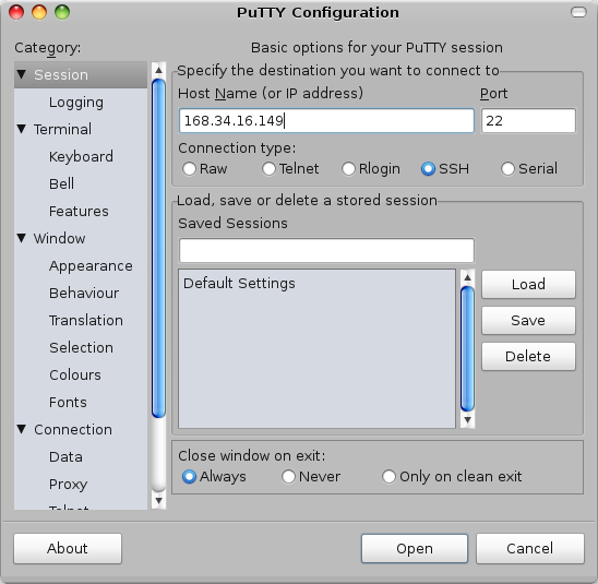 SSH tunnel (proxy) setup using Putty(SSH client) to a Home router