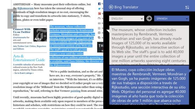 Microsoft Bing Translator for Windows 8 and RT Announced