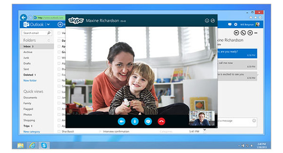 Microsoft launches Skype for Outlook.com worldwide with HD video call support