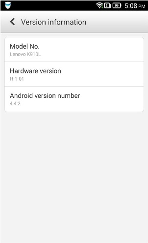 Lenovo Vibe series phone received Android Kitkat update