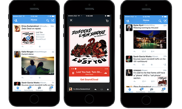 Twitter's new Audio Card feature brings streaming music and podcasts