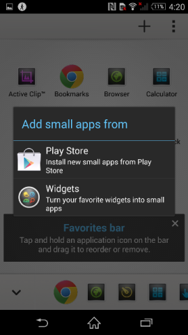 How to add your favorite application in Favorite Bar of Sony Xperia Z2
