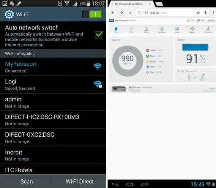 How to restore factory settings in WD My Passport Wireless 1TB through mobile
